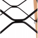 Tabouret de bar design scandinave PACO (noir)