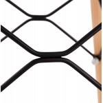 Taburete de barra de diseño escandinavo PACO (negro)