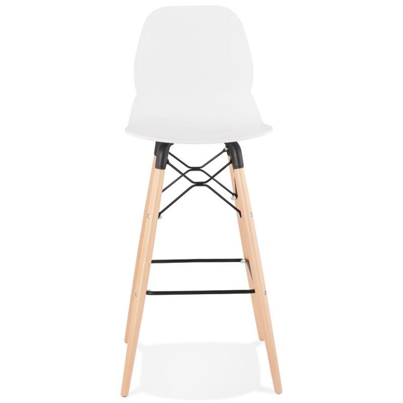 PACO Scandinavian design bar stool (white) - image 46943