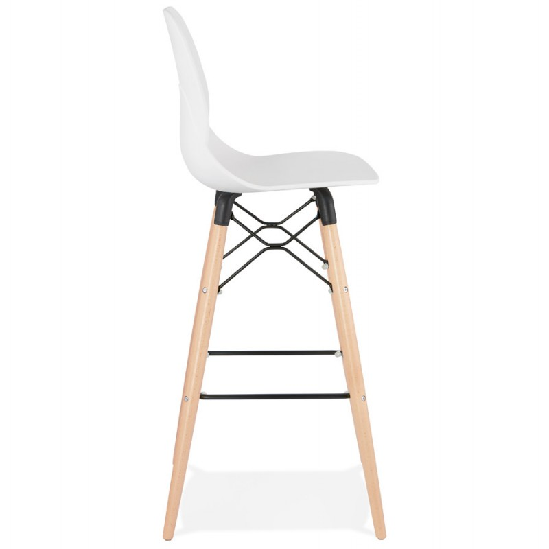 PACO Scandinavian design bar stool (white) - image 46944