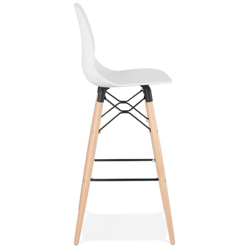 Tabouret de bar design scandinave PACO (blanc) - image 46944