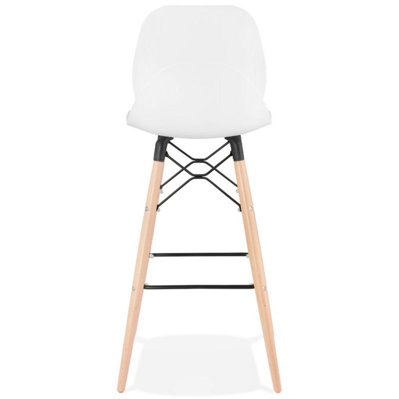 Tabouret de bar design scandinave PACO (blanc) - image 46946