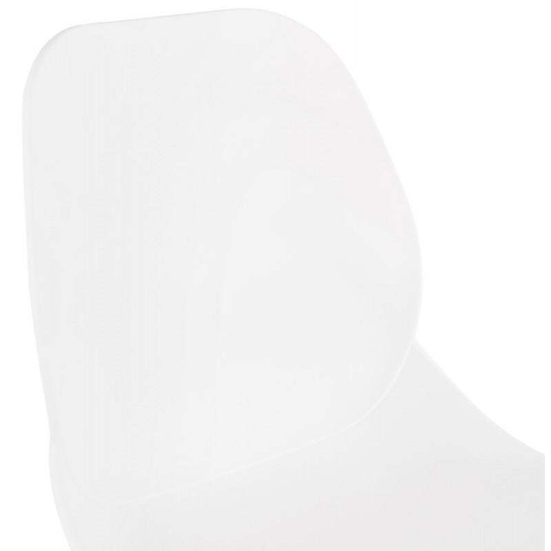 Tabouret de bar design scandinave PACO (blanc) - image 46947