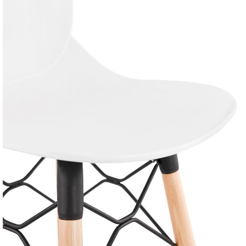 Tabouret de bar design scandinave PACO (blanc) - image 46950