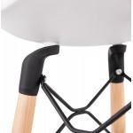 Tabouret de bar design scandinave PACO (blanc)
