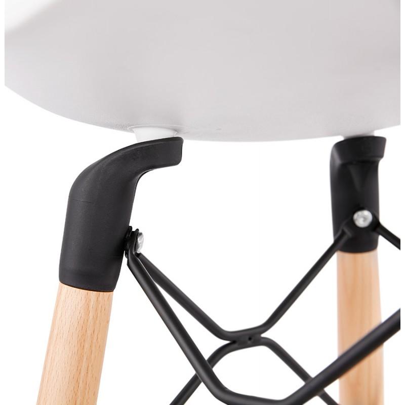 PACO skandinavisches Design Barhocker (weiß) - image 46953