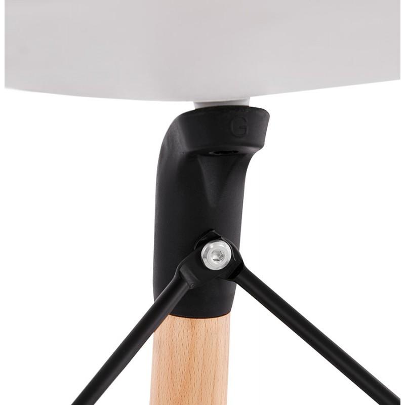 PACO skandinavisches Design Barhocker (weiß) - image 46954