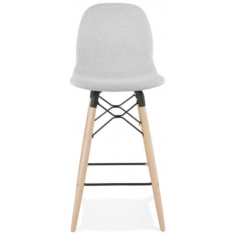 Tabouret de bar chaise de bar mi-hauteur scandinave en tissu PAOLO MINI (gris clair) - image 46958