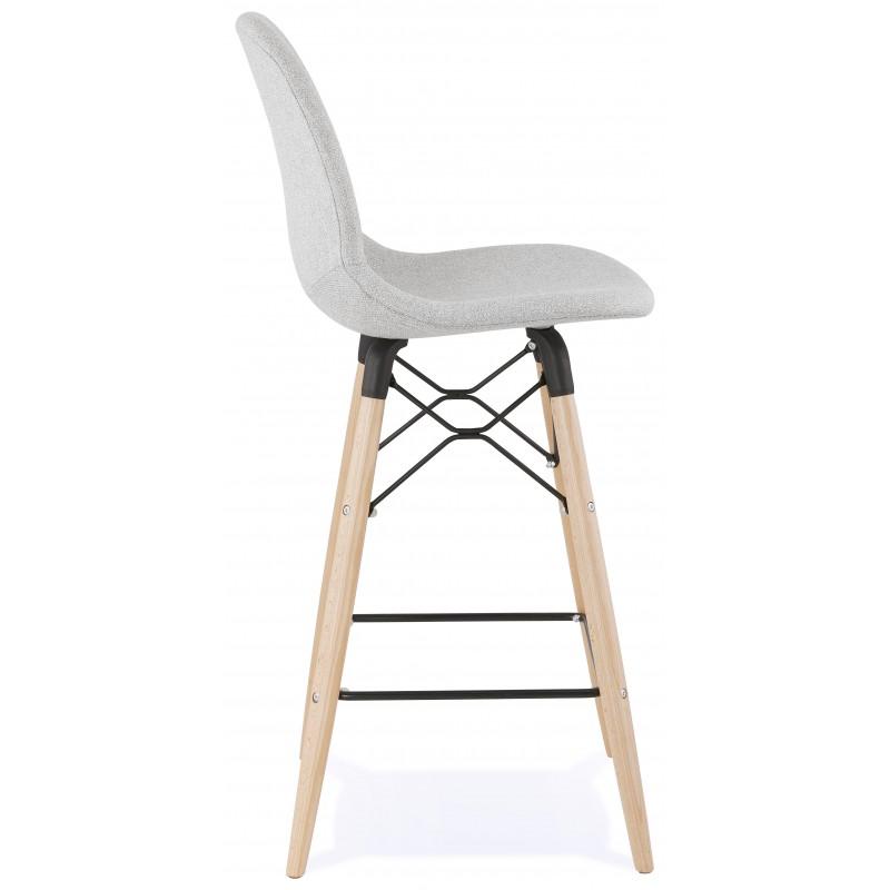 Tabouret de bar chaise de bar mi-hauteur scandinave en tissu PAOLO MINI (gris clair) - image 46959