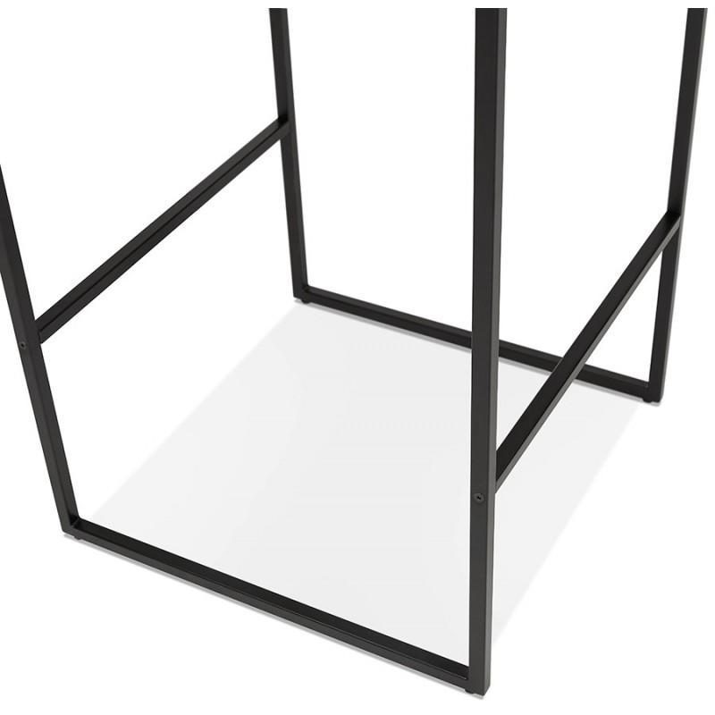 Hoher Tisch aufgesiebt Holzdesign schwarz Metallfüße HUGO (weiß) - image 47001