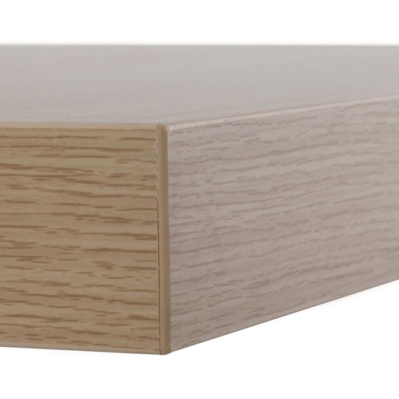 Table haute mange-debout design en bois pieds métal noir LUCAS (finition naturelle) - image 47021