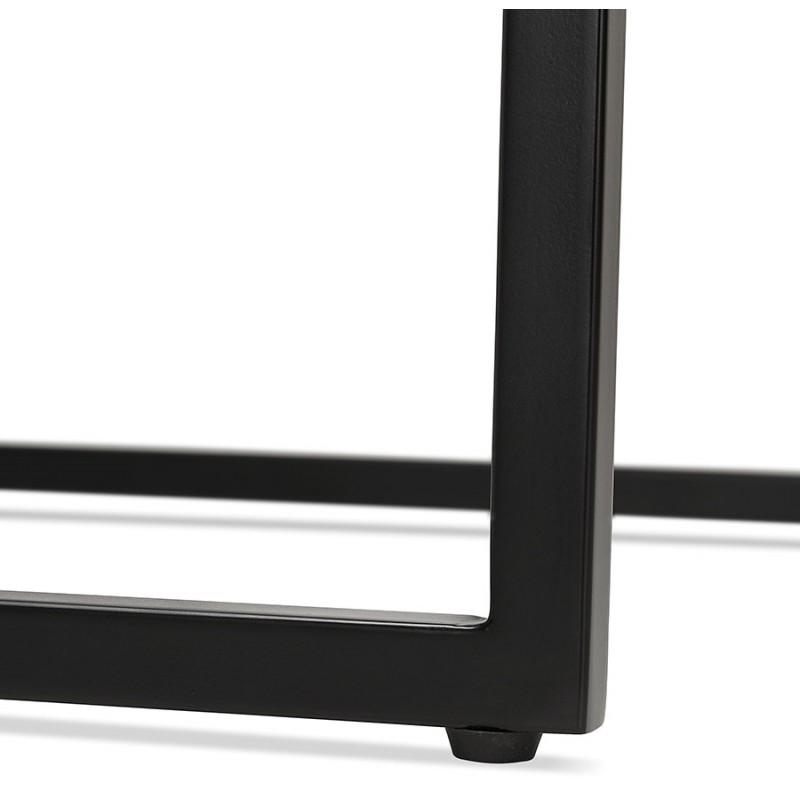 Table haute mange-debout design en bois pieds métal noir LUCAS (finition naturelle) - image 47025