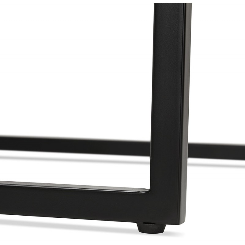 Hoher Tisch essen-up Holz design schwarz Metall Füße LUCAS (natürliche Oberfläche) - image 47025