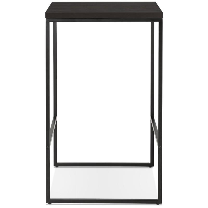 Table haute mange-debout design en bois pieds métal noir LUCAS (wengé) - image 47027