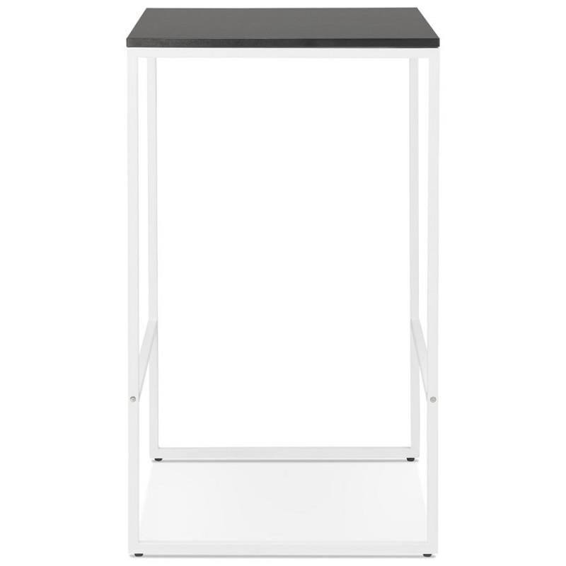 Table haute mange-debout design en bois pieds métal blanc HUGO (noir) - image 47046
