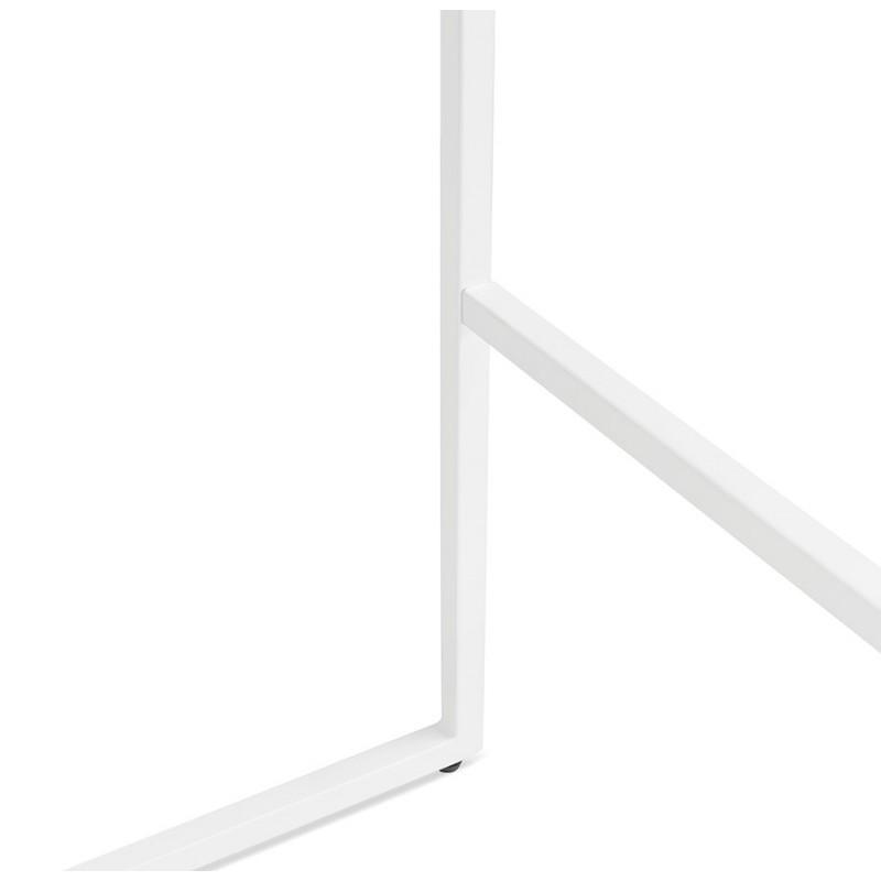 Table haute mange-debout design en bois pieds métal blanc HUGO (noir) - image 47052