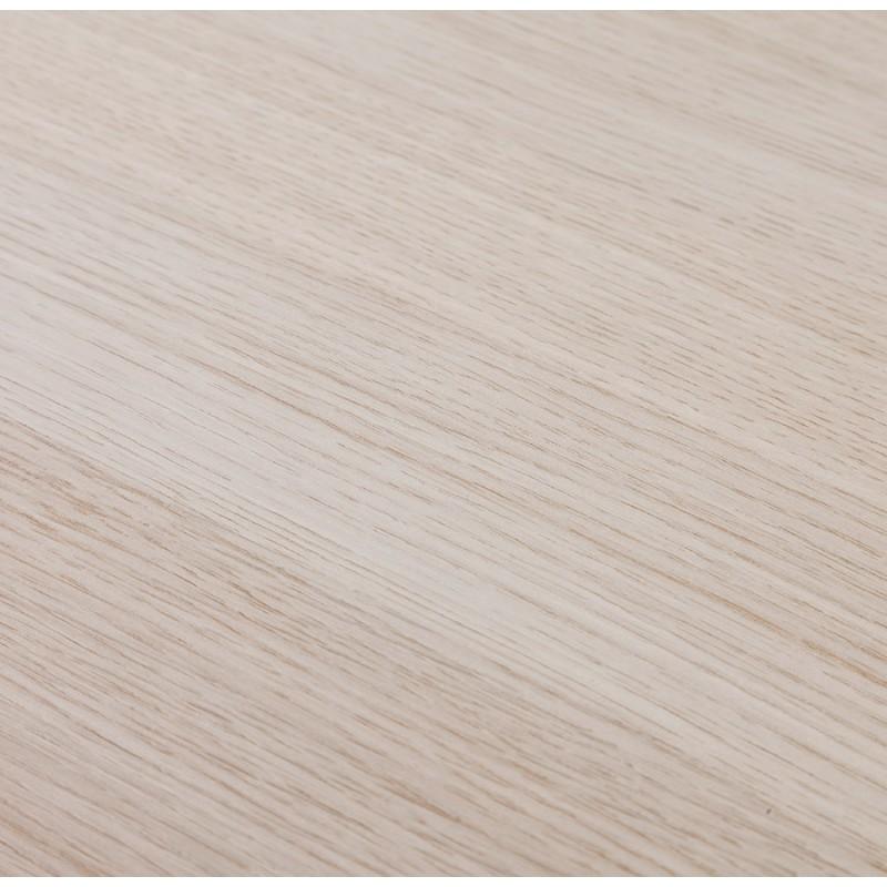 Table haute mange-debout design en bois pieds métal blanc LUCAS (finition naturelle) - image 47058
