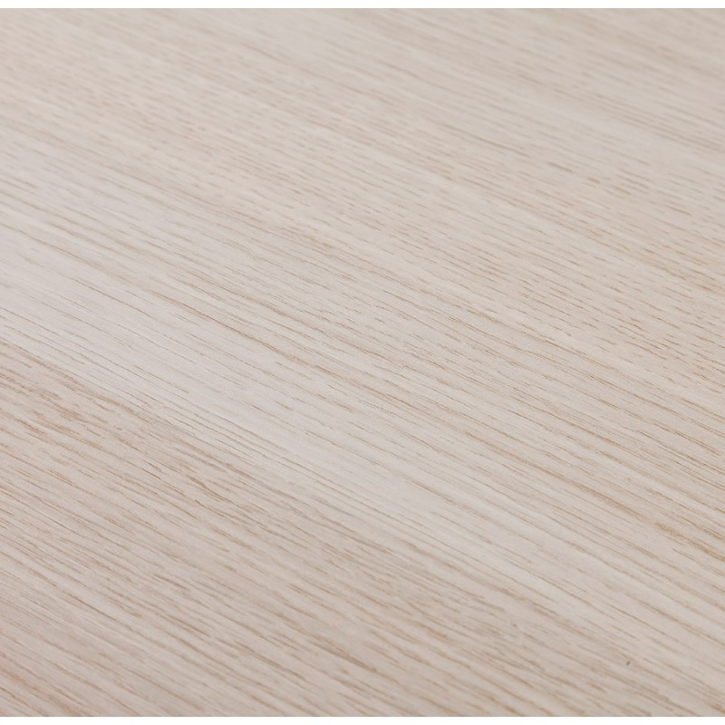 Hoher Tisch essen-up Holz design weiß Metall Fuß LUCAS (natürliche Oberfläche) - image 47058