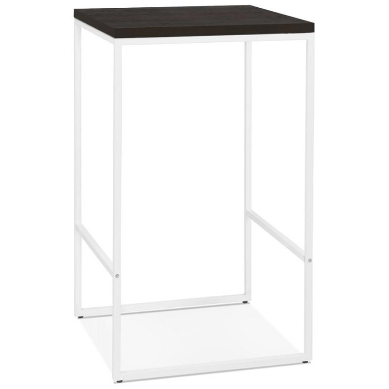 Hoher Tisch aufgesättes Holzdesign weiß Metallfuß LUCAS (wengé) - image 47065