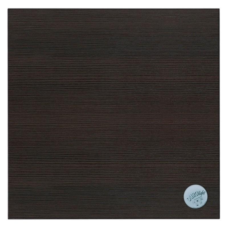 Table haute mange-debout design en bois pieds métal blanc LUCAS (wengé) - image 47067