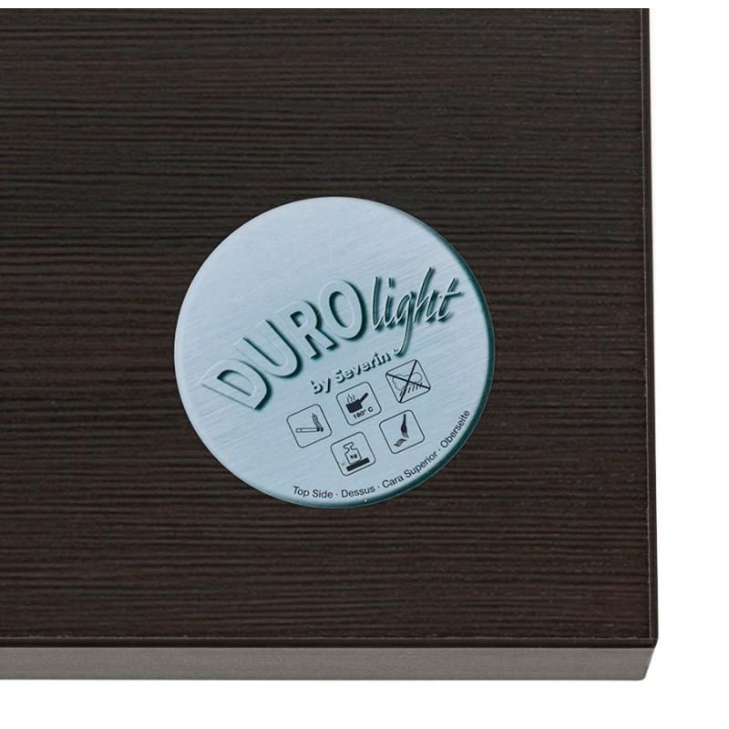 Table haute mange-debout design en bois pieds métal blanc LUCAS (wengé) - image 47068