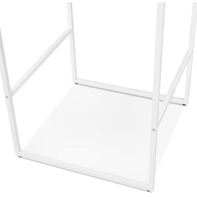 Table haute mange-debout design en bois pieds métal blanc LUCAS (wengé) - image 47070