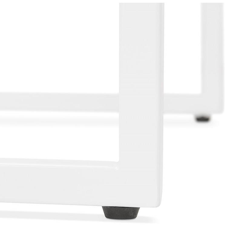 Table haute mange-debout design en bois pieds métal blanc LUCAS (wengé) - image 47073
