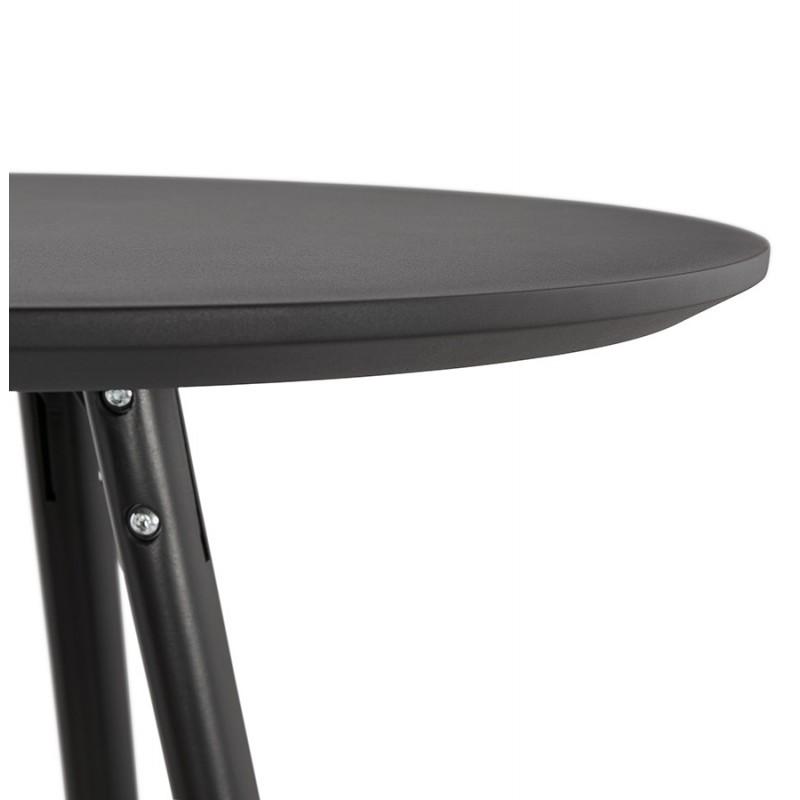 Table haute mange-debout design en bois pieds bois CHLOE (noir) - image 47086