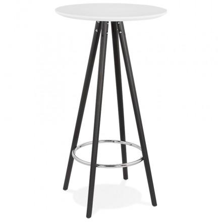 Hoher Tisch isst-up Holz Design Füße schwarz Holz CHLOE (weiß)