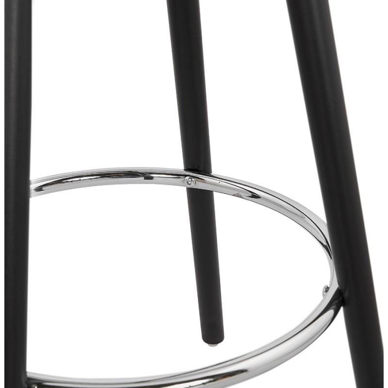 Table haute mange-debout design en bois pieds bois noir CHLOE (blanc) - image 47098