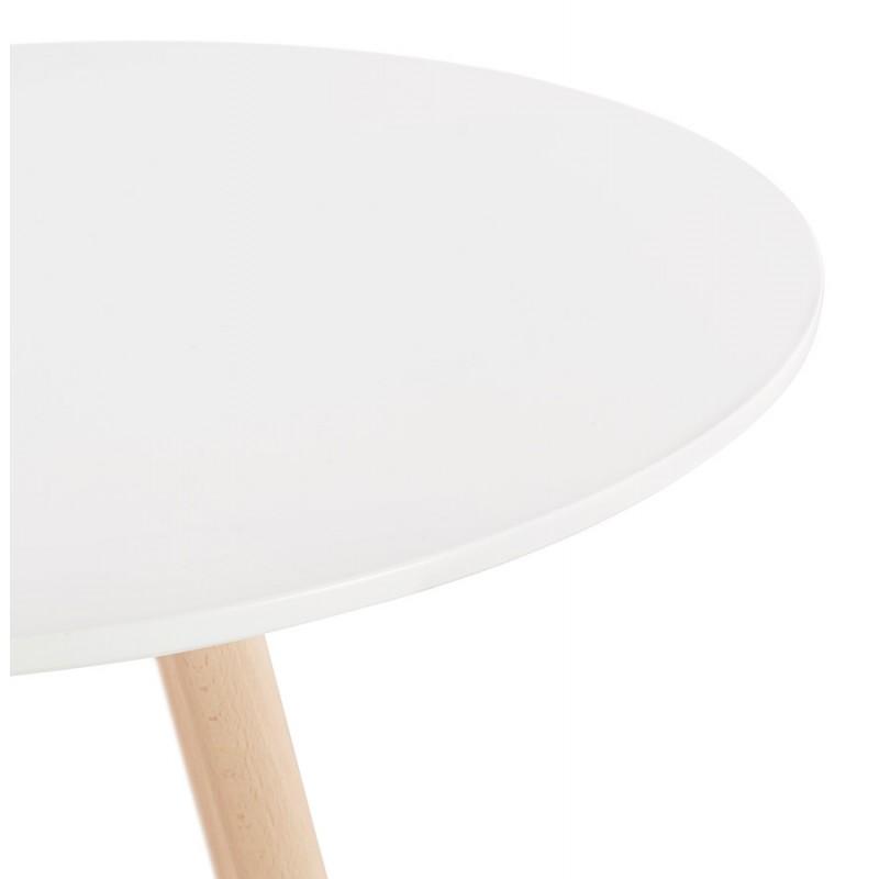 Table haute mange-debout design en bois pieds bois couleur naturelle CHLOE (blanc) - image 47106