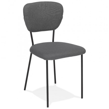 Vintage and retro chair in noALIA black foot fabric (dark grey)