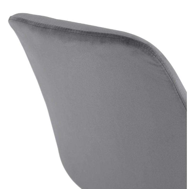 Silla vintage e industrial en terciopelo negro pies LEONORA (gris oscuro) - image 47400