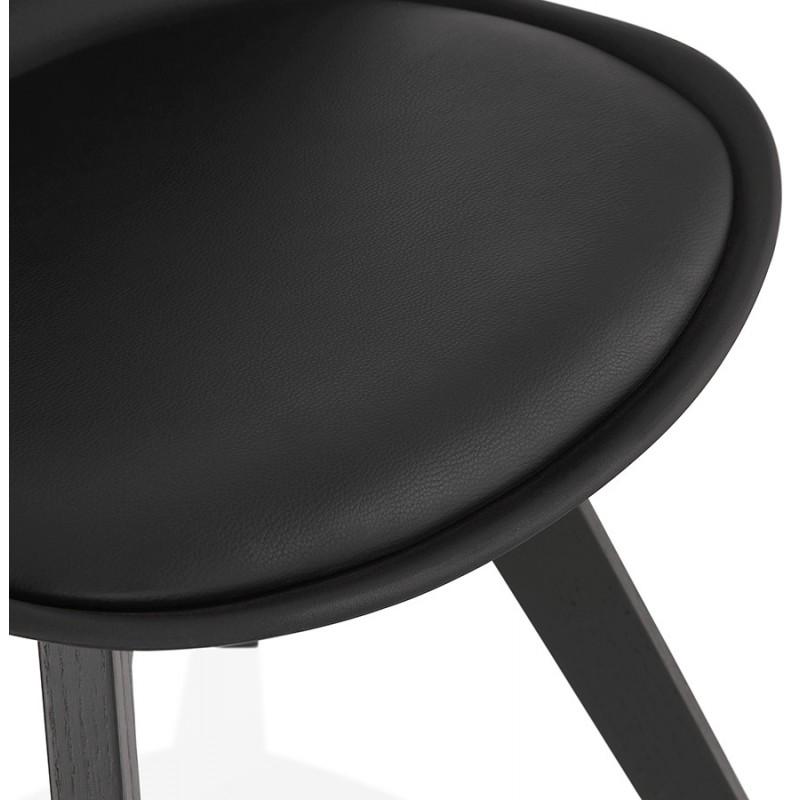 Chaise design pieds bois noir MAILLY (noir) - image 47530