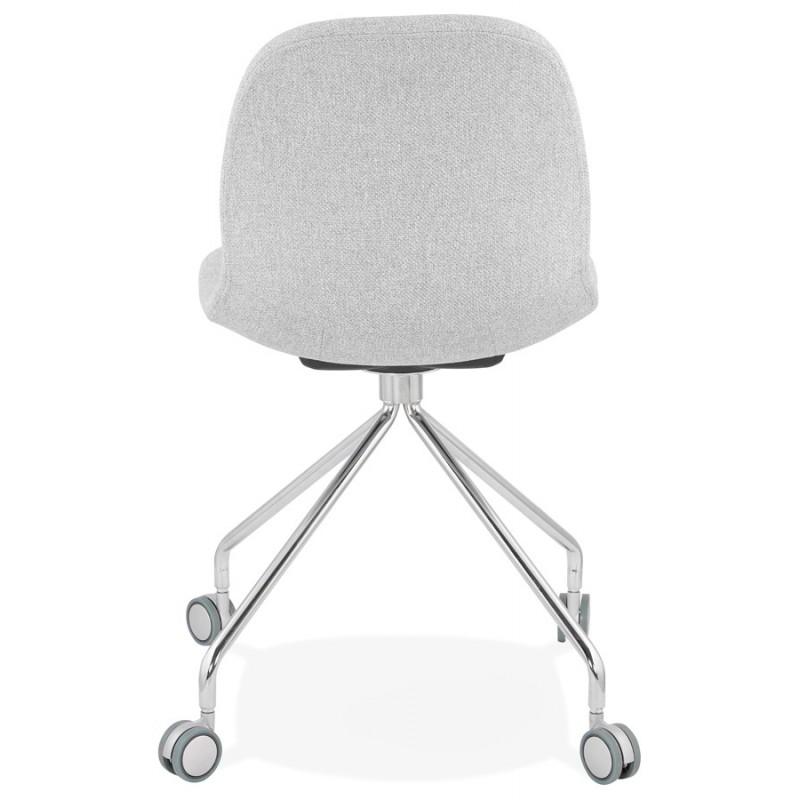Chaise de bureau sur roulettes en tissu MARYA (gris clair) - image 47637