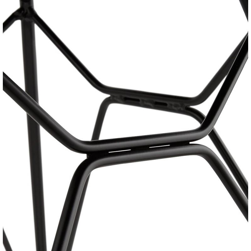 Chaise design industrielle en tissu pieds métal noir MOUNA (gris clair) - image 47691