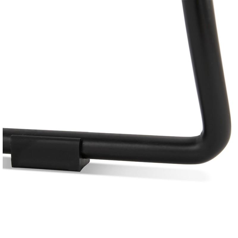 Chaise design empilable en tissu pieds métal noir MANOU (gris clair) - image 47714