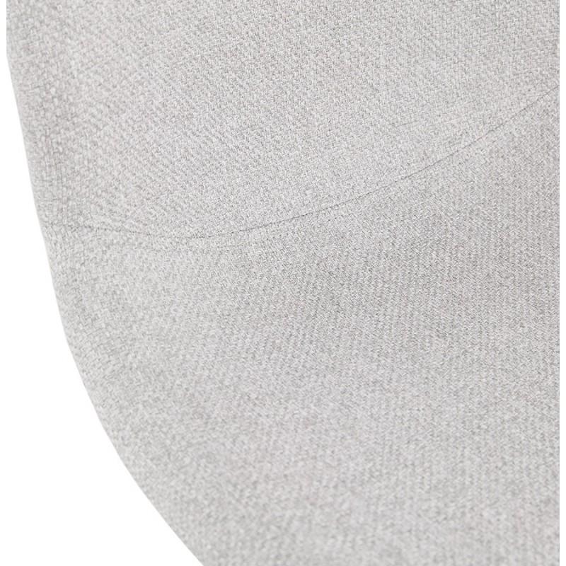 Chaise design empilable en tissu pieds métal chromé MANOU (gris clair) - image 47724