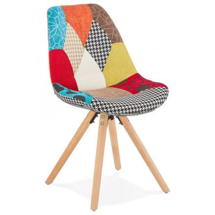 ManAO (multicolor) tejido bohemio tela tela de madera