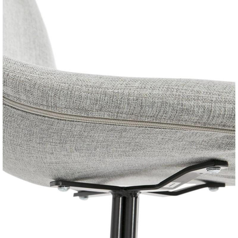 Chaise design et scandinave en tissu pieds métal noir MALVIN (gris clair) - image 47746