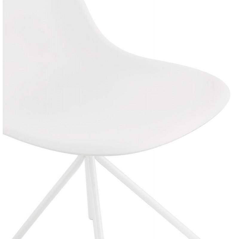 Chaise design industrielle pieds métal blanc MELISSA (blanc) - image 47782