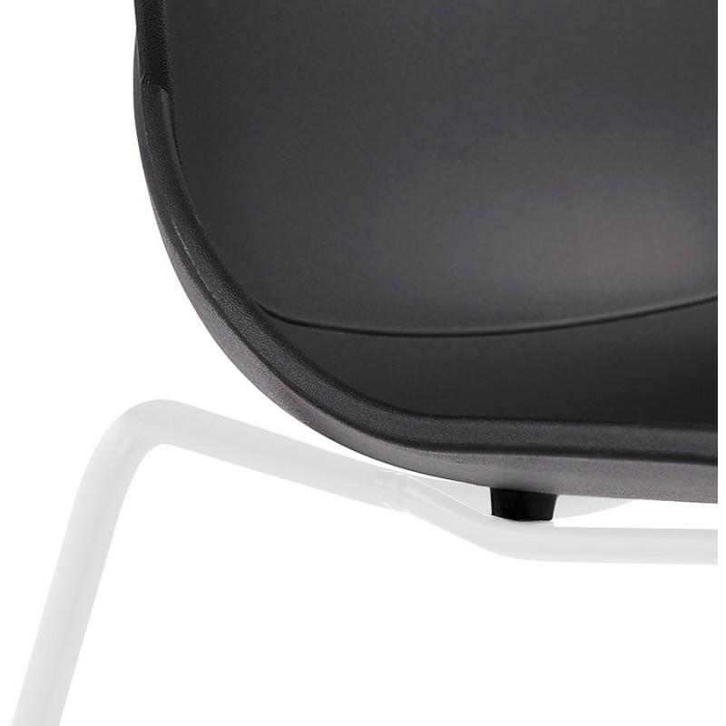 Chaise design empilable pieds métal blanc MALAURY (noir) - image 47783