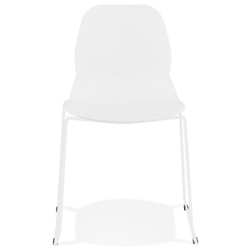 Chaise design empilable pieds métal blanc MALAURY (blanc) - image 47792