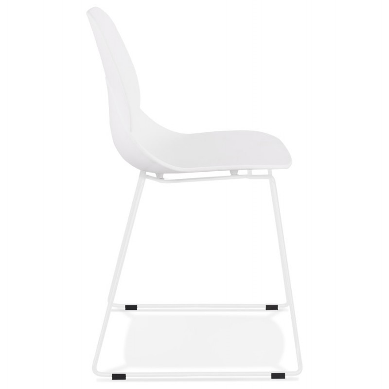 Chaise design empilable pieds métal blanc MALAURY (blanc) - image 47794