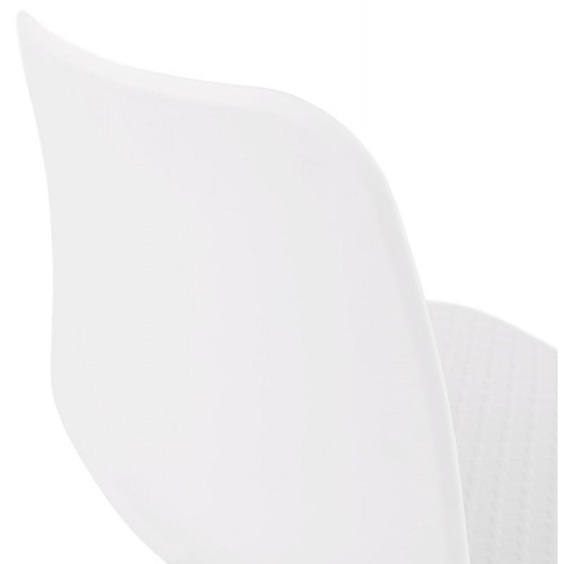 Chaise moderne empilable pieds métal blanc ALIX (blanc) - image 47812