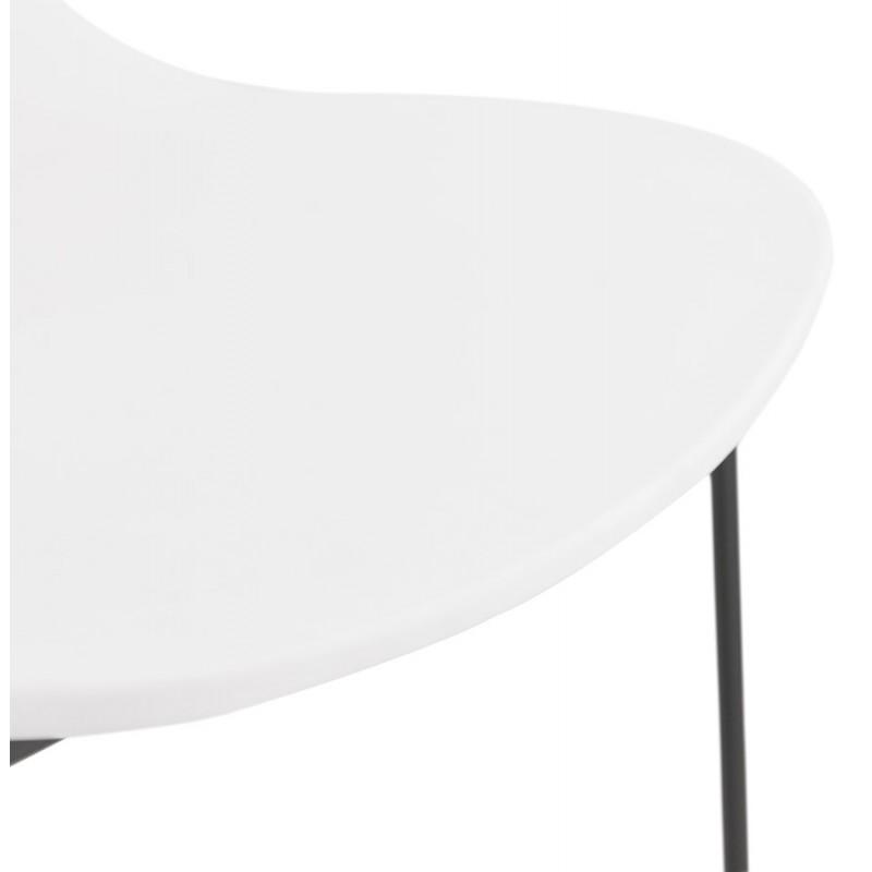 Chaise design empilable pieds métal noir MALAURY (blanc) - image 47857