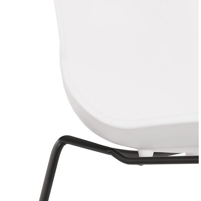Chaise design empilable pieds métal noir MALAURY (blanc) - image 47858
