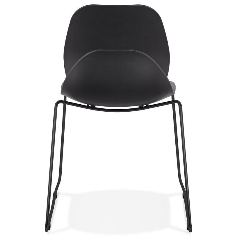Chaise design empilable pieds métal noir MALAURY (noir) - image 47864