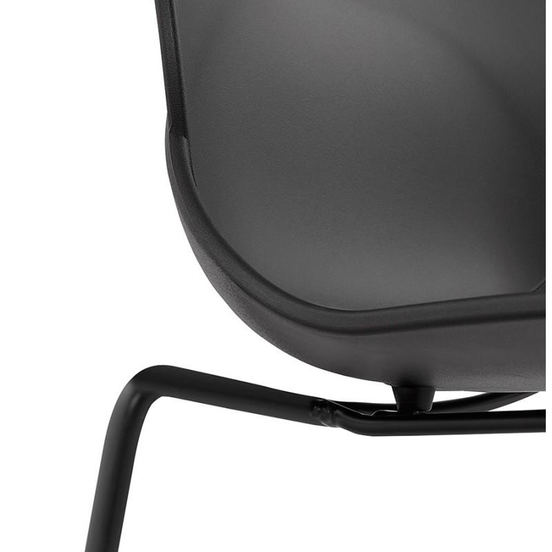 Chaise design empilable pieds métal noir MALAURY (noir) - image 47867