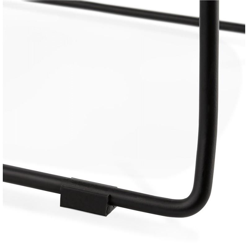 Chaise moderne empilable pieds métal noir ALIX (blanc) - image 47886